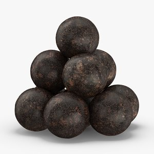 old-cannonballs 3D