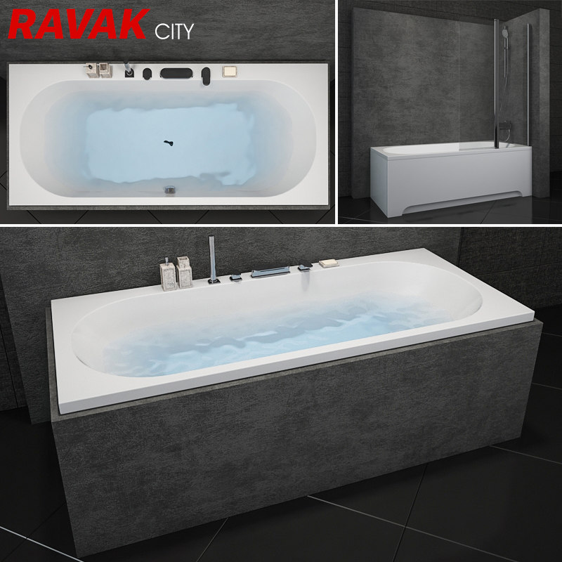 bath ravak city scene model