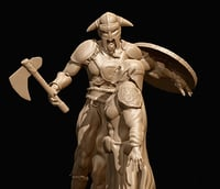 3D viking sculpture