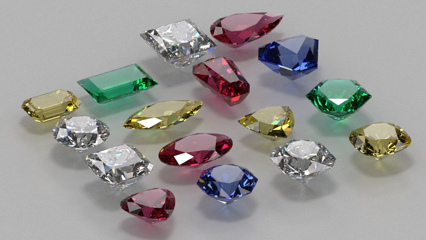3D gem stones