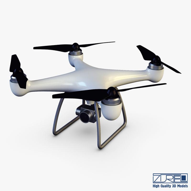 drone quadcopter v 1 3D model