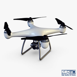 drone quadcopter v 1 3D model