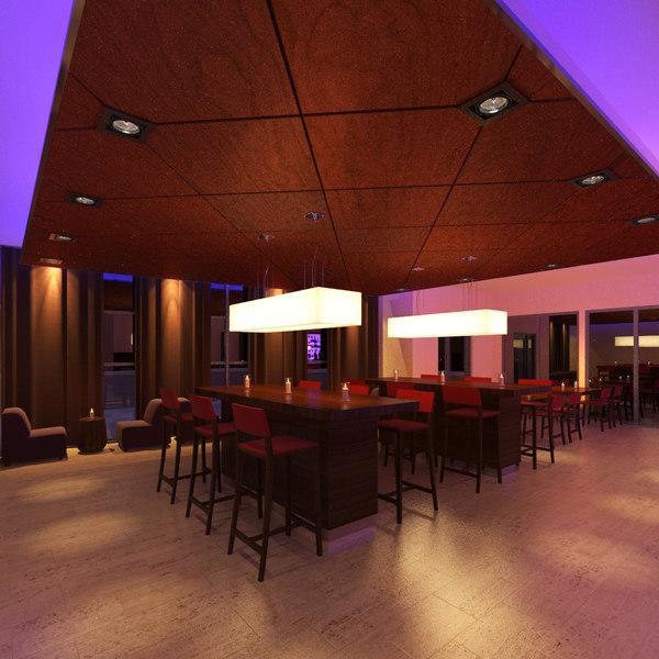 rooftop bar 3D