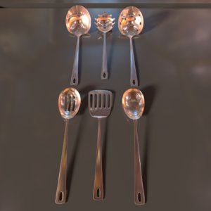 3D cooking spoons