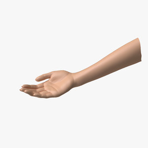 female arm pose b 3D model