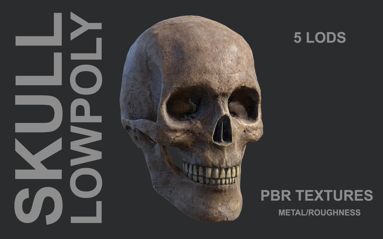 3D skull details pbr