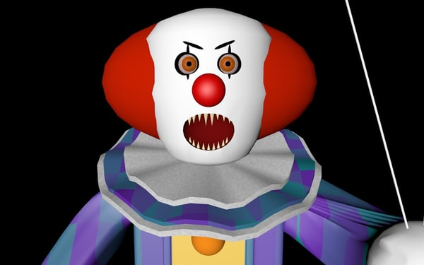 3D model pennywise clown movie