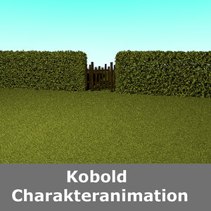hedge fence 3D model