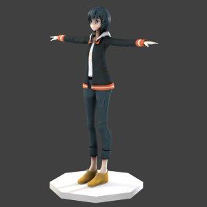 3D character misa anime shirobako