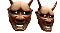 Hannya Mask Japan Japanese Demon Noh Wood Face Helmet