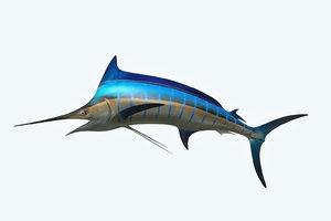3D marlin animal model