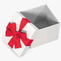 gift box open white 3D