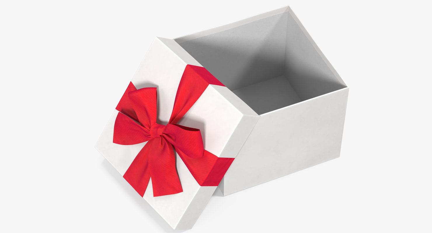 gift box open white 3D