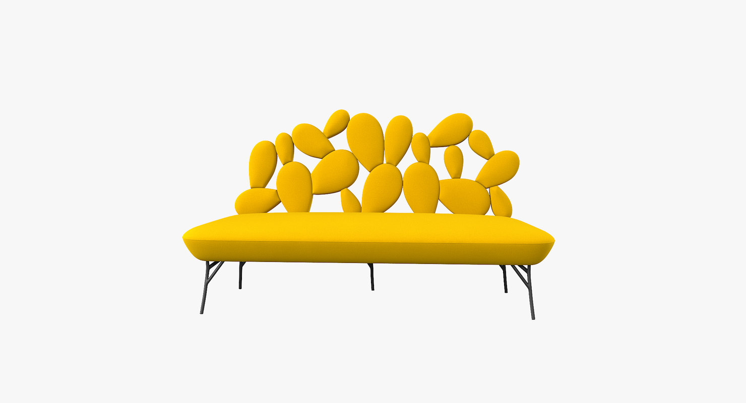 3D cactus sofa pont des model