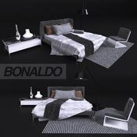 Bed in modern style, Bonaldo