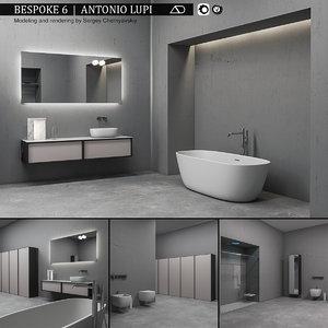 3D bathroom furniture set bespoke