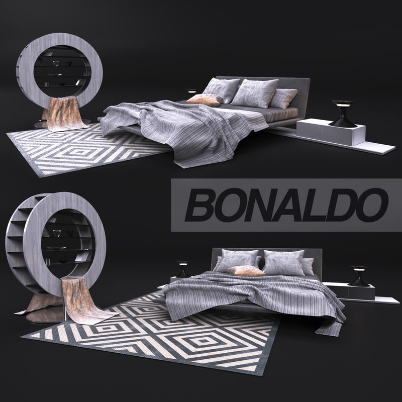 3D model bed table bonaldo