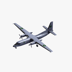 fokker f27 friendship 3D