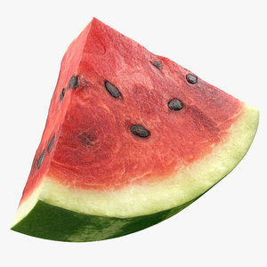 3D watermelon slice