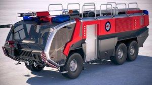 rosenbauer panther firetruck 3D model