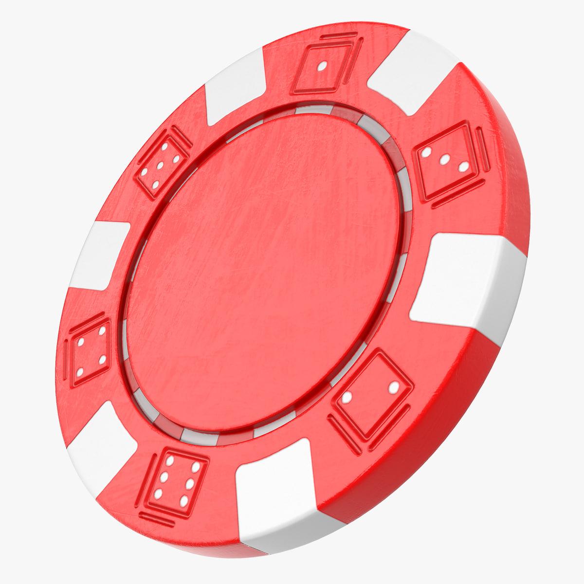 striped dice poker chip model