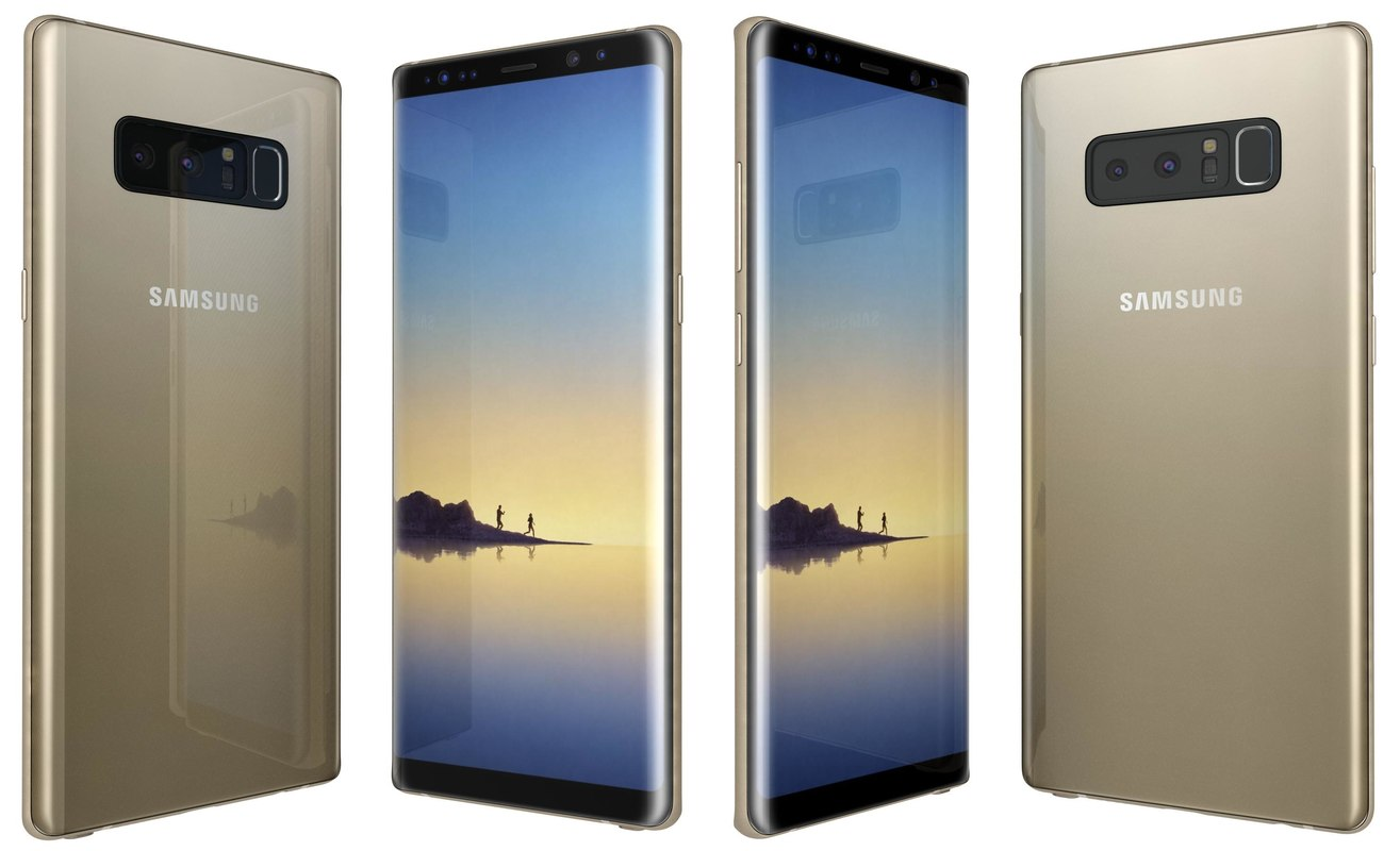 3D model samsung galaxy note 8