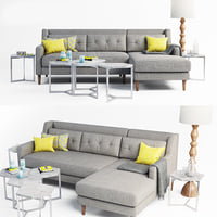 3D sofa crosby set model