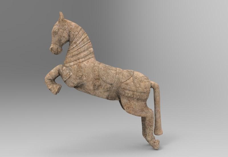 sculpture horse 3D model