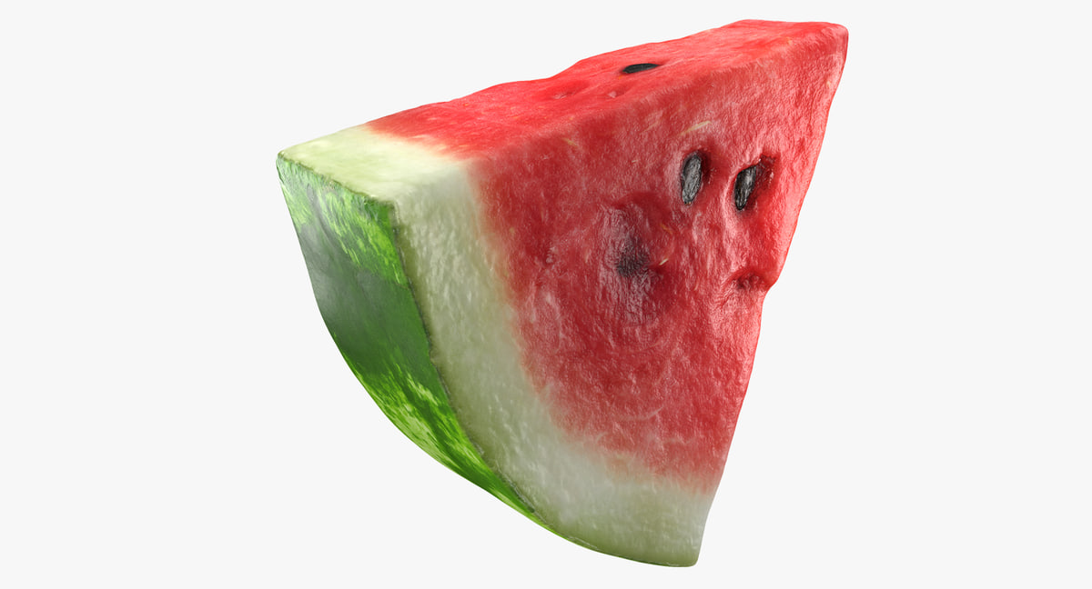 slice watermelon 3D model