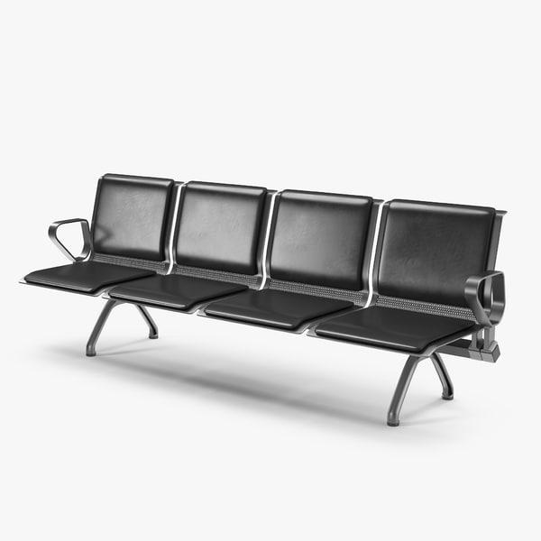 3D public waiting seats