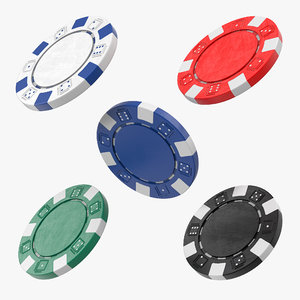 poker chips set 3D