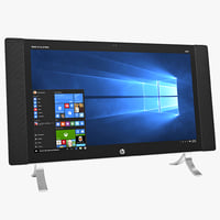 3D hp envy 24qe touch model