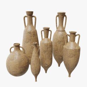 3D ancient amphoras pbr