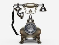 phone retro vintage style 3D model