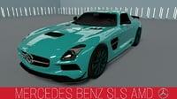 3D mercedes-benz sls amg