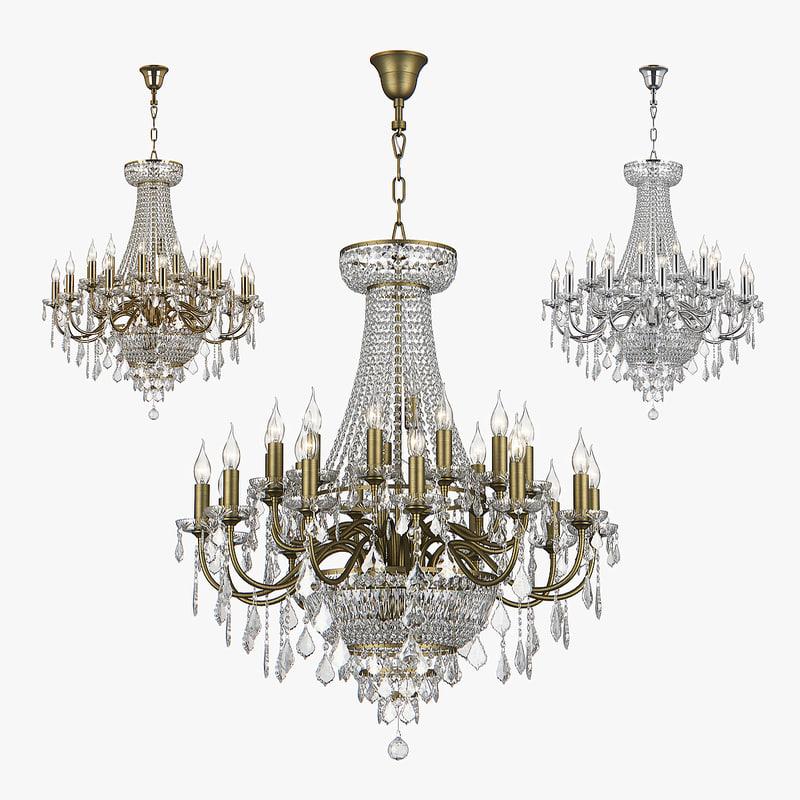 3D model chandelier 700291 700292 700294