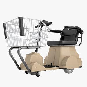 3D electric shopping cart