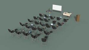 3D office conference hall