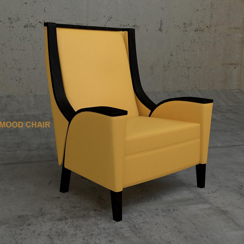 mood lounge chair 3D model
