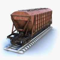 low-poly cargo car 3D