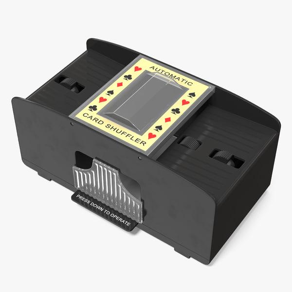 3D card shuffler