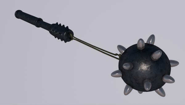 mace club weapon 3D model