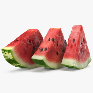 3D sliced watermelon