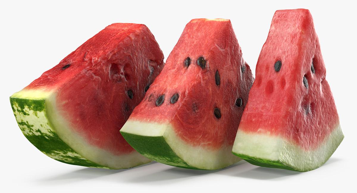 3D sliced watermelon