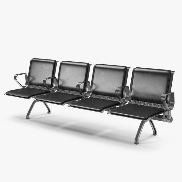 airport terminal seating 3D