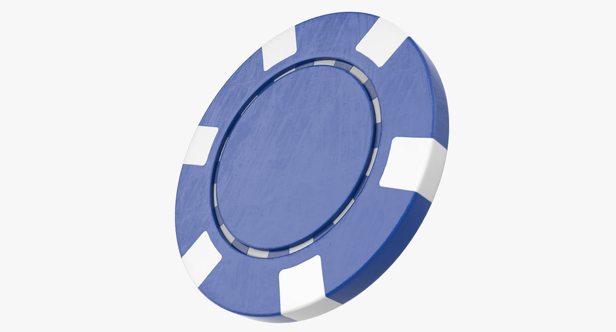 blank poker chip 3D model