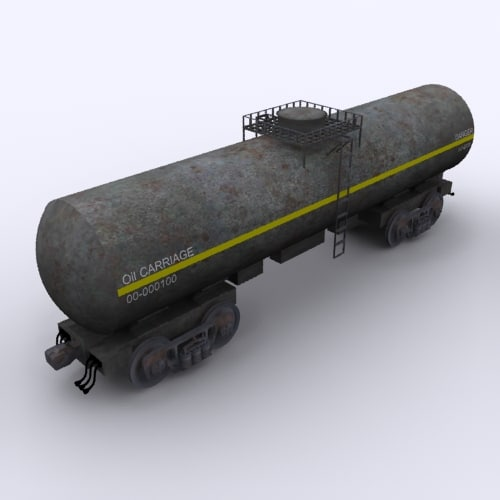 3D railway oil carriage