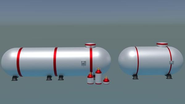 3D shiny gas tank model
