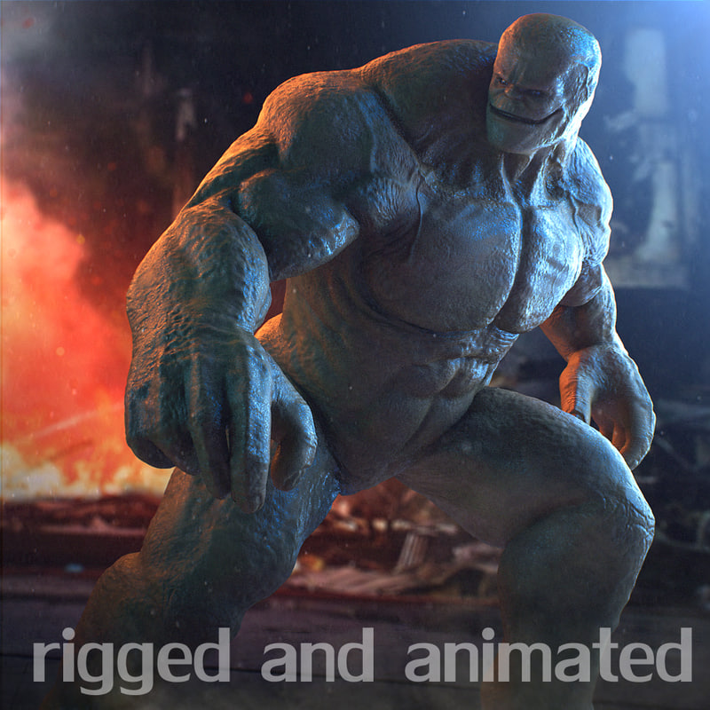 rigged animate 2014 3D model