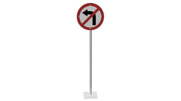 3D model signal turn left
